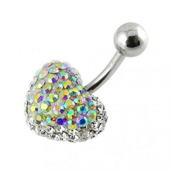Buy Crystal stone Heart Belly Ring FDBLY380 online
