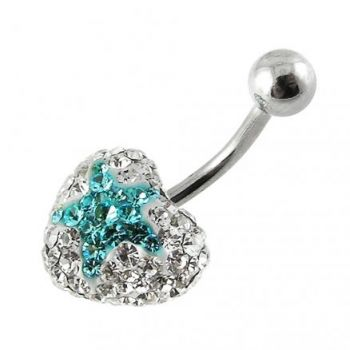 Buy 316L SS Crystal stone Star Belly Ring FDBLY353 online