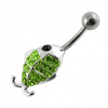 Buy Fancy Jeweled Fish Silver Belly Ring online