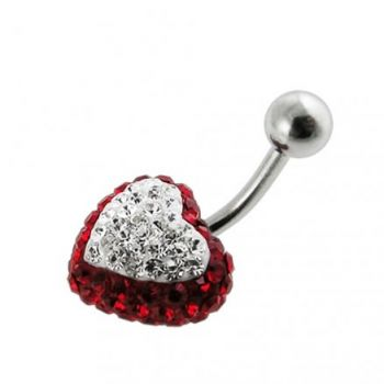 Buy Crystal stone Heart Belly Body Jewelry Ring FDBLY322 online