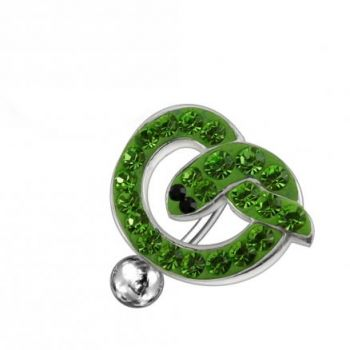 Buy Jeweled Fancy Reverse Silver Dangling Belly Ring With SS Bar online