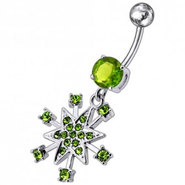 Buy Jeweled Star Dangling Belly Ring online