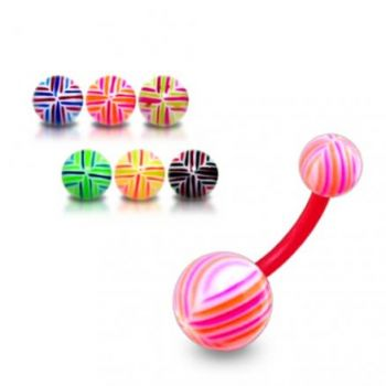 Buy UV Belly Banana Bar With Mix Color UV Balls online