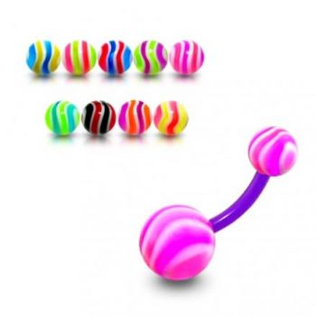 Buy UV Belly Banana Bar With Pink And White UV Balls online