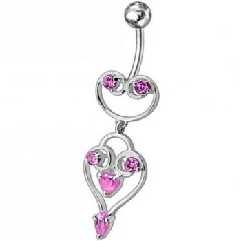 Buy Fancy Green Stone Jeweled Dangling Belly Ring PBM1614 online