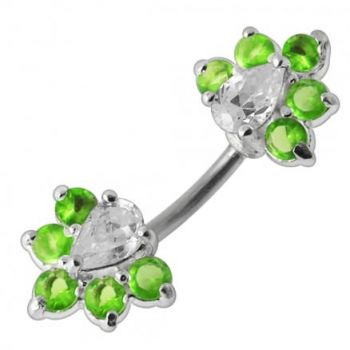 Buy Fancy Jeweled Spinal Belly Button Ring online