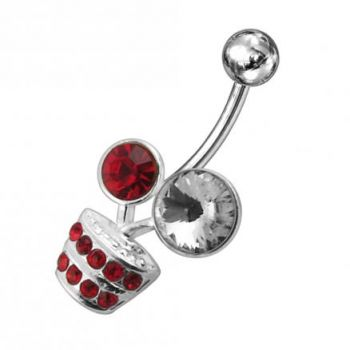 Buy Fancy Multi Jeweled Flower Pot Non-Moving Belly Ring online