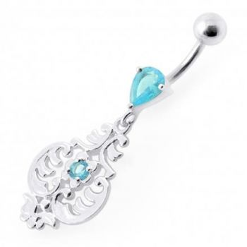 Buy Fancy Ancient Pot Jeweled Dangling Belly Ring online
