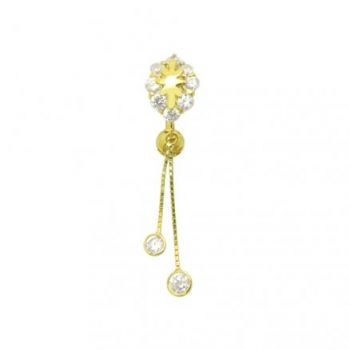 Buy Dangling Jeweled 14K Gold Reverse Belly Ring online