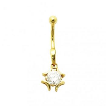 Buy Jeweled Iron Cross 14K Gold Belly Ring online