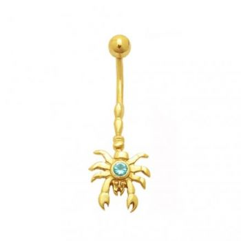 Buy Jeweled Crab Dangling 14K Gold Belly Ring online