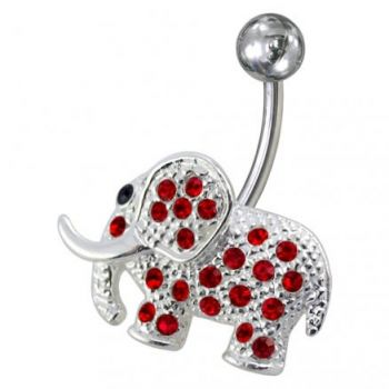 Buy Fancy Jeweled Elephant Non-Moving Belly Ring online