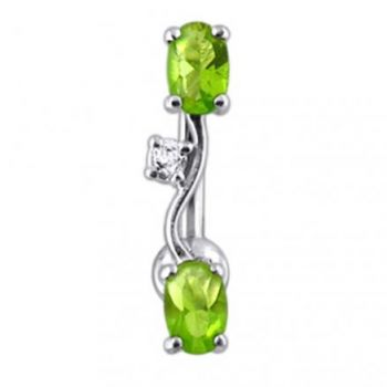 Buy Fancy Jeweled Non-Moving Reverse Belly Ring Body Jewelry online