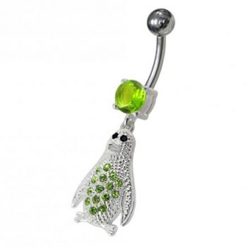 Buy Jeweled Penguin Dangling Belly Ring online