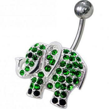 Buy Jeweled Elephant Non-Moving Belly Ring online