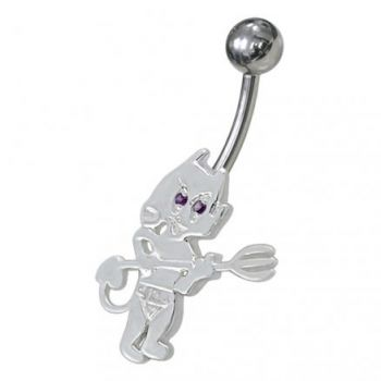 Buy Jeweled Little Devil Non-Moving Belly Ring online