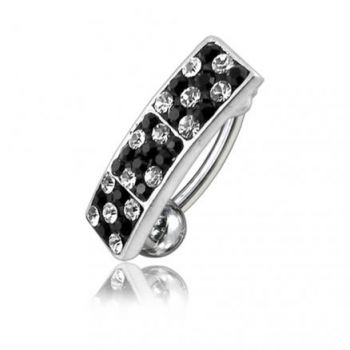 Buy Mix Color Crystal Stone Reverse Banana Bar Belly Ring online