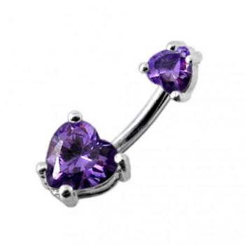 Buy Jeweled Hearts Spinal Belly Button Ring online