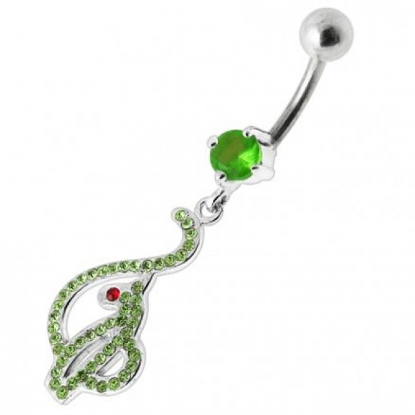 Buy Baby Phat Dangling Jeweled Belly Ring online