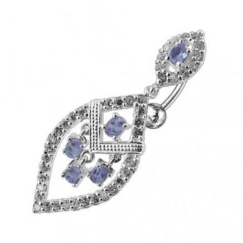 Buy Dangling Jeweled Reverse Bar Belly Ring online