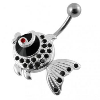 Buy Jeweled Fish Dangling Belly Ring online