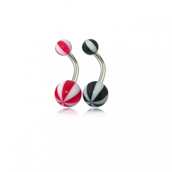 Buy Assorted Pink Color Acrylic UV Ball Belly Rings online