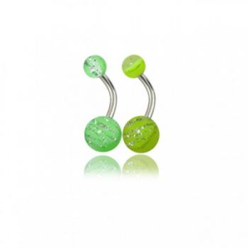 Buy Assorted Plain And Glitters Belly Rings With Fancy UV Balls online