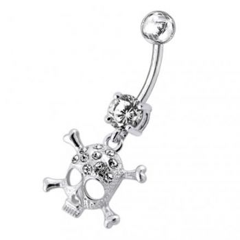 Buy Jeweled Skull Dangling Belly Ring online
