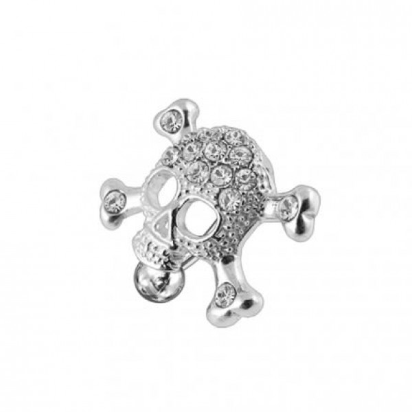 Buy Skull shaped Reverse Dangling jeweled Belly Ring online