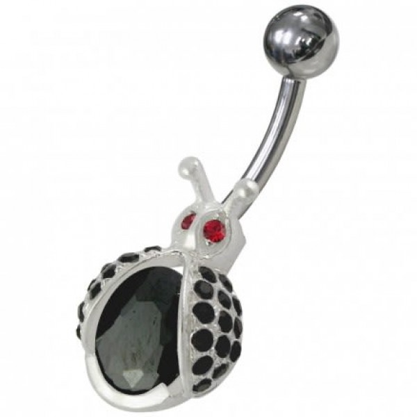 Buy Fancy Honey bee Shaped Jeweled Non-Moving Belly Ring online