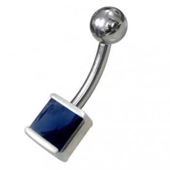 Buy Silver Jeweled Non Moving Belly Ring online