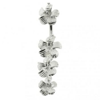 Buy Hibiscuss Flower Dangling Spinal Belly Button Ring online