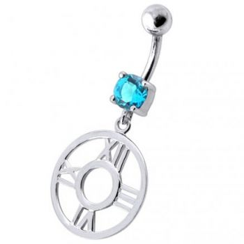 Buy Fancy Clock Shapped Dangling jeweled Belly Ring online