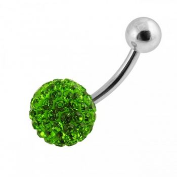 Buy Single Green Color Crystal Stone Belly Body Jewelry Ring FDBLY039 online