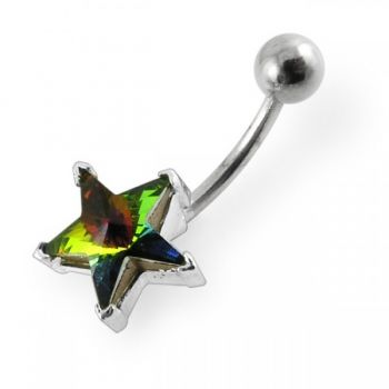 Buy Jewelled Star Non-Moving Belly Ring online