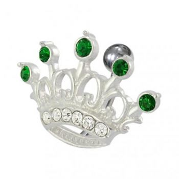 Buy Jeweled Crown Non-Moving Belly Ring online