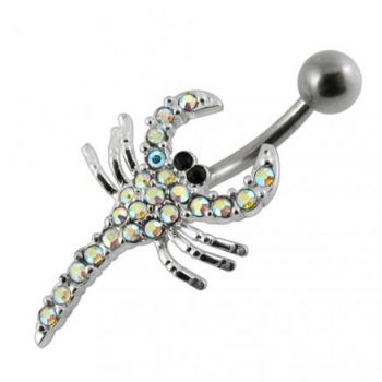Buy Jeweled Scorpio Non-Moving Belly Ring online