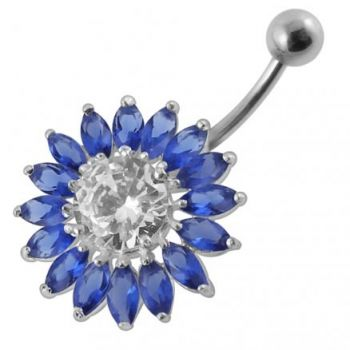 Buy Jeweled SunFlower Non-Moving Belly Ring online