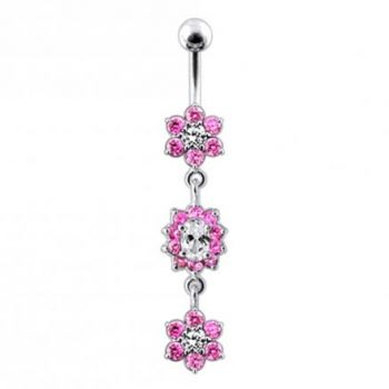 Buy Multi Green Jeweled Dangling Body Jewelry Belly Ring online