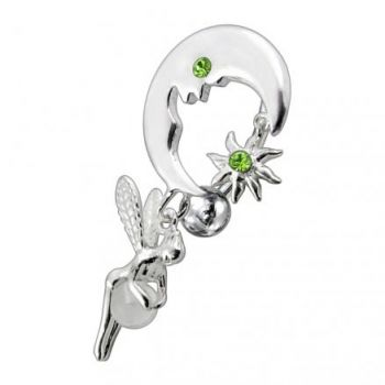 Buy Jeweled Dangling Reverse Bar Belly Ring online