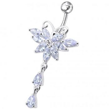 Buy Butterfly Dangling Belly Moving Ring online