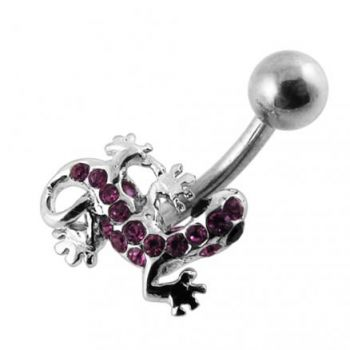 Buy Jeweled Gecko Non-Moving Belly Ring online