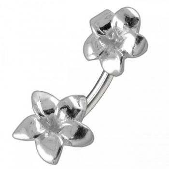 Buy Plain Plumeria Flowers Spinal Belly Button Ring online