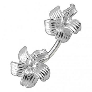 Buy Hibiscus Flowers Spinal Belly Button Ring online