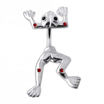 Buy Jeweled Jumping Frog Spinal Belly Button Ring online