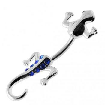 Buy Lizard with Jeweled Tail Spinal Belly Button Ring online