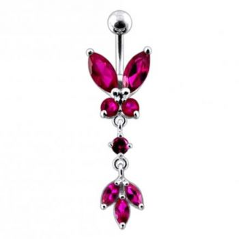 Buy Butterfly 925 Sterling silver Dangling Belly Ring online