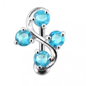 Buy Tetra Fancy Jeweled Non-Moving  Belly Ring online