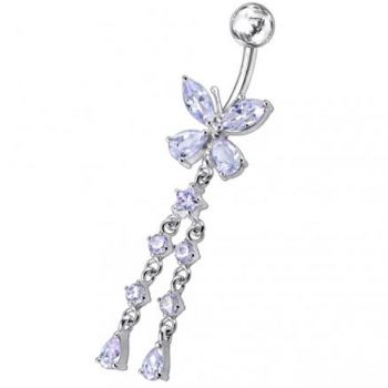 Buy Butterfly With Twin Dangling Belly Ring online