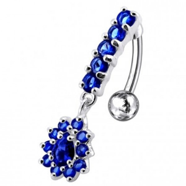 Buy Silver Reverse Belly Button Ring PBM0736 online